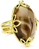 "Julieli ""Metaform"" 18k Gold Smoky Quartz and Diamond Classic Ring by Julieli"
