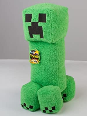 Minecraft Creeper 14 Inch Plush Toy With Explosion Sound - In Box