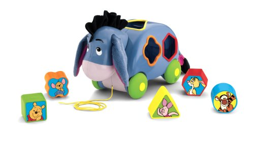 Fisher-Price Disney's Winnie the Pooh Eeyore's Pull Along Shape Sorter - 1