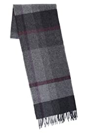 Collezione Pure Lambswool Checked Scarf [T09-4041C-S]