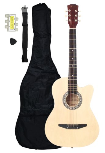 "38"" Cutaway Beginner Acoustic Guitar Starter Set, Natural"
