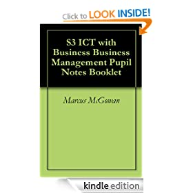 S3 ICT with Business Business Management Pupil Notes Booklet