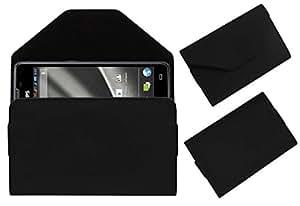 Acm Premium Pouch Case For Philips Xenium W6610 Flip Flap Cover Holder Black