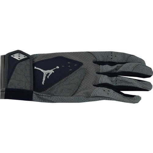 Derek Jeter 2012 Game Used Grey W/ Blue Trim Batting Glove (Single) front-788276