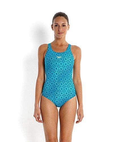 Speedo Damen Badeanzug Monogram Muscleback mit Allover-Print