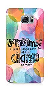 AMEZ painful situation change us Back Cover For Samsung Galaxy Note 5