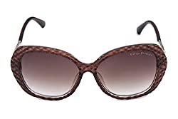 Vintage Elements Non Polarized Women's Sunglass Brown Frame & Brown Shaded Lens