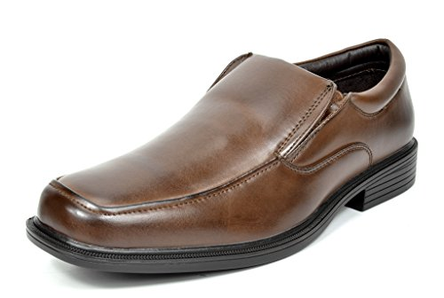 Bruno Marc CAMBRIDGE-02 Men's Formal Loafers Lace Up Slip On Square Moc Toe Leather Lining Dress Classic Oxford Shoes DARK BROWN SIZE 11 (Leather Dress Shoes Men compare prices)