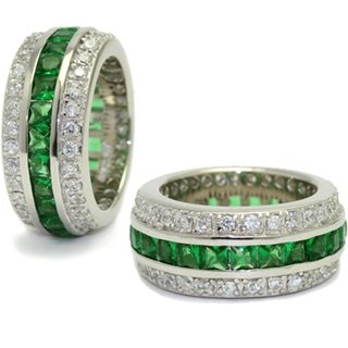The Emerald Hollywood Fantasy Eternity Ring - 7