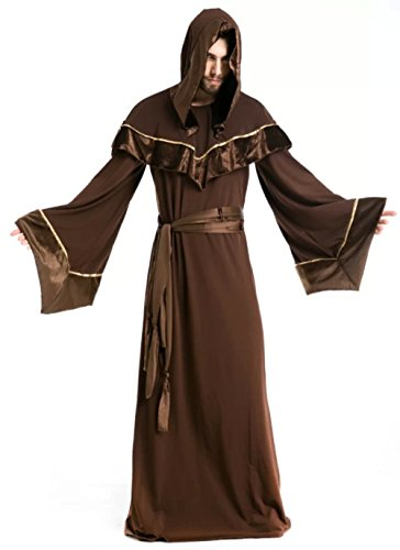 NonEcho Western Classic Wizard Costume for Men Halloween Outfit Kit