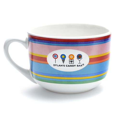 Dylan's Candy Bar Striped Ceramic Mega Mug