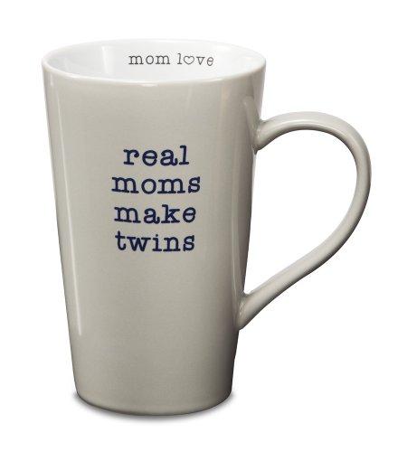 Pavilion Gift Company 14015 Stoneware Mug, Real Moms Make Twins front-496246