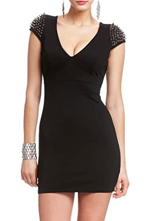 2B Dahlia Spiked Sleeve Dress 2b Night Dresses Blk-xxs
