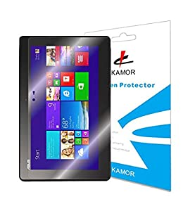 [2 PACK] Kamor® Asus Transformer Book T100TA Screen Protector Film, Crystal Clear (Invisible) edition - Highest Quality Japanese PET Material for Asus Transformer Book T100TA - [LIFETIME WARRANTY]