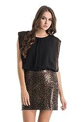 Kazo Women's Body Con Dress (112748BLACKCXL)
