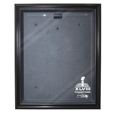 Seattle Seahawks Super Bowl 48 Champions Cabinet Style Jersey Display Color: Black<br />
