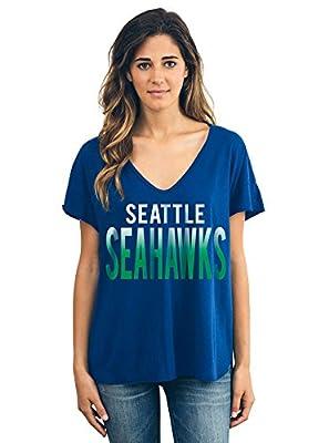 Womens Seattle Seahawks Sideline V-Neck T-Shirt