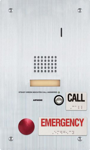 """Aiphone Corporation Is-Ss-2Ra-R Flush Mount Audio Door Station With Standard And Emergency Call Buttons, Stainless Steel, 7"""" X 11-3/4"""" X 1-7/8"""""""