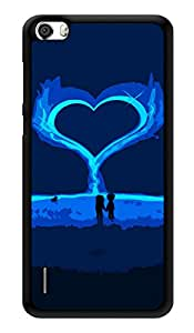 "Humor Gang Love Is In The Air Printed Designer Mobile Back Cover For ""Huawei Honor 6"" (3D, Glossy, Premium Quality Snap On Case)"