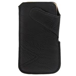 MaximaTrade 4250344848738 Textil-Stoff Handytasche mit Microfaserinnenfutter für Samsung Galaxy S III/i9300/Galaxy Nexus/i9250 /Nexus Prime /i515 schwarz