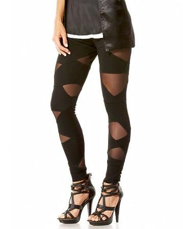 Cutout Mesh Inset Legging :  legwear trend sexy cutout