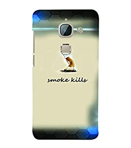PrintVisa Quotes & Messages Smoke 3D Hard Polycarbonate Designer Back Case Cover for LeEco Le Max 2