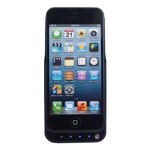 ケース一体型充電 おでかけチャージャー for iphone5 4200mAh ブラック 黒 / 大容量モバイルバッテリー / モバイルバッテリー / USB でも 充電 スマートフォン スマホ バッテリー iPhone4S / 軽量ムーブパワーツインチャージ / case mate / mophie juice pack plus / mophie juice pack helium air / eneloop / enecycle / anker astro3E / cheero power plus 2 / ibuffalo / パワーフィルム /より機能的
