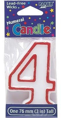 Bulk Buys Birthday Candle Number Four - Case of 12