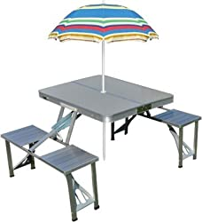 10 PCS (Atam Aluminium OUTDOOR Table with charcoal grill FREE worth 800/- )
