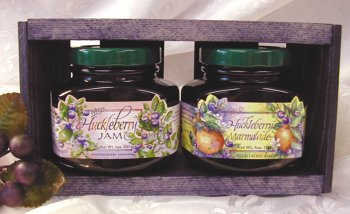 Wild Huckleberry Jam Gift Set by Huckleberry Haven, Inc.
