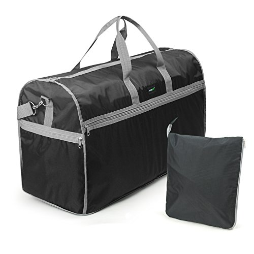 Lavievert Foldable Travel Duffle Bag Attached to Luggage Sports Gear Gym Bag for Outdoor Activities (Roller Package compare prices)
