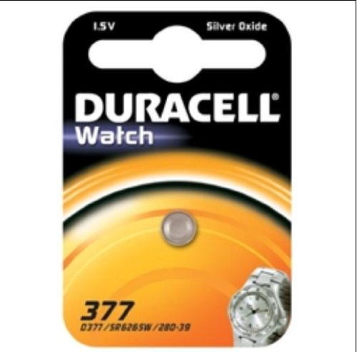button cell silver oxid-watch batteries<br>1 pcs blister SR 626 / 377 / SR 66 Duracell 1BL