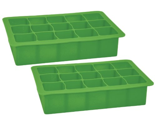 green sprouts Silicone Freezer Tray, Green, 2-Pack