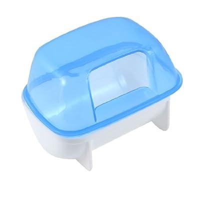 Pet Hamster Bathroom Bath Sand Room Sauna Toilet Blue White 10x7x7cm
