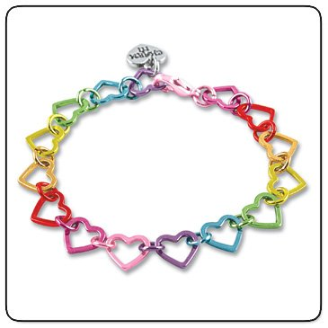 CHARM IT! Rainbow Heart Link Bracelet By High IntenCity