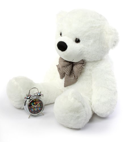 YunNaSi I love you White Teddy Bear Giant Big Cute Plush 47