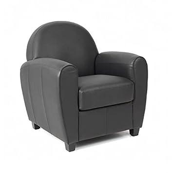 Bristol fauteuil club en simili noir