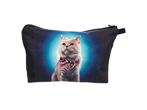 Beauty Case, borsa da viaggio, borsetta da toilette sacco sacchetto bagno per cosmetici trucco make up motivi diversi, Kosmetiktasche KT-002-050:KT-004 gatto