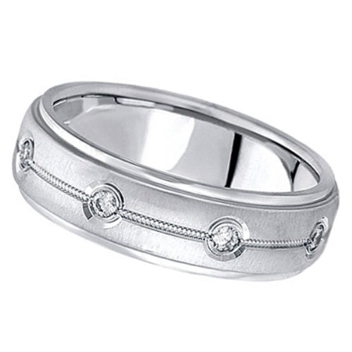0.40 ctw Men's Diamond Ring in Palladium
