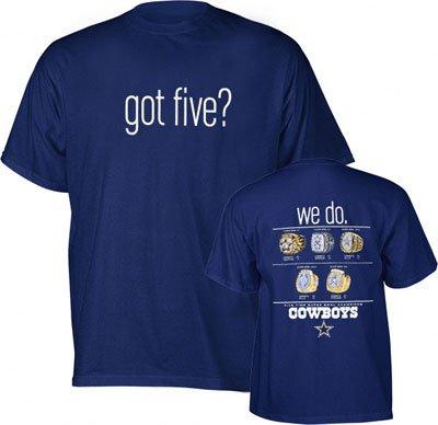 Dallas Cowboys Got Five Adult T-Shirt (Small) - Dallas Cowboy T-Shirt 9e150900d