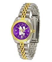 Northwestern University Ladies Gold Dress Watch