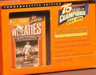 Wheaties 75 Years of Champions 1924-1999 Commemorative Edition Babe Ruth Mini-box Collectible - 1
