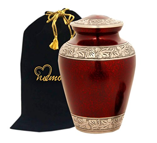 Memorials4u Elite Crimson Cloud and Silver Cremation Urn, Funeral Urn , New ~ Good Deal (Urns Funeral compare prices)