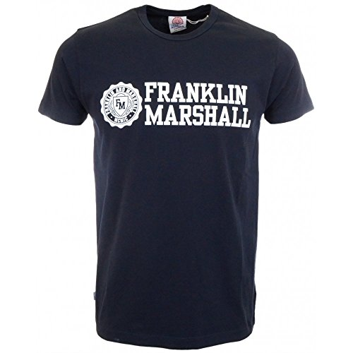 Franklin & Marshall Tshirt Jersey Round Neck Short-T-shirt  Uomo    blu navy medium