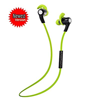 """SNEER """"iSport"""" Series X-BlueBud Premium 2014 Newest Mini Wireless Bluetooth Headset Stereo Sports/Running & Gym/Exercise Bluetooth Earbuds Headphones Headsets w/Microphone for Iphone 6 plus 5S 5C 4S 4, Ipad 2 3 4 New iPad,iPad Air Ipod, Android,Samsung Ga"""