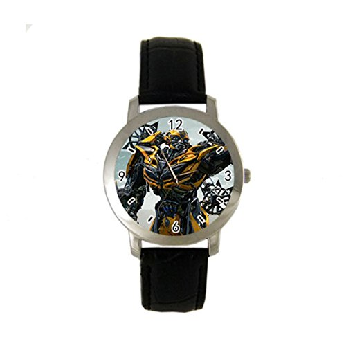 Bumblebee Transformers Movies Custom HOT NEW Sport Fashion Adult leather band wrist watch