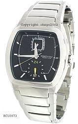 Kenneth Cole Men's KC3685 Reaction Black Dial Silver-Tone Bracelet Watch