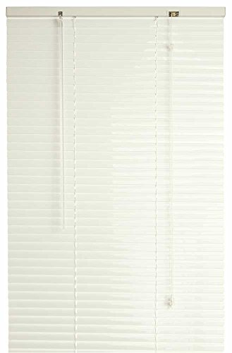 DESIGNER'S TOUCH 1-Inch Vinyl Mini Blinds, Alabaster, 34-1/2X60 In. - 300499