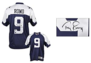 Tony Romo Dallas Cowboys Autographed Thanksgiving Day Reebok Authentic Jersey -... by Sports Memorabilia