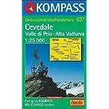 Cevedale/valle di peio 1/25.000 n 637: Carta turistica. Valle di Pejo. Alta Valfurva (Carte de Randon)